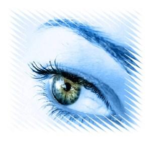 blue tech icon eye