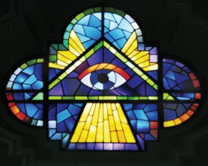 stained glass eye
