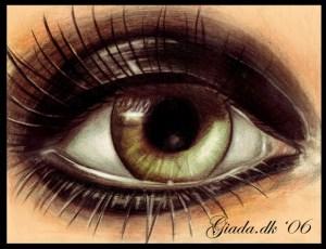 heavy dark green eye