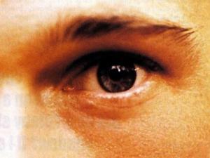 Brad Pitt's left eye