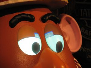 Mr Potataohead's eyes