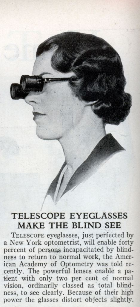 Telescope eyeglasses