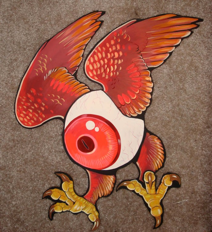 eyeball wood cut out by missmonster