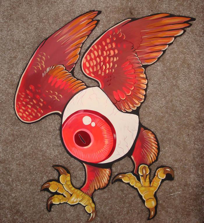eyeball wood cut out by missmonster