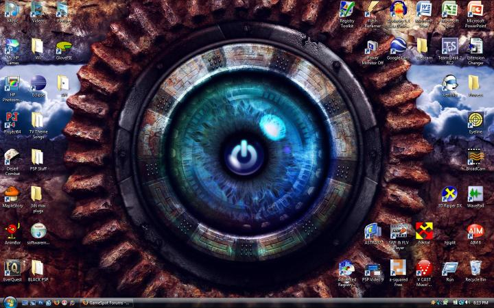 computer desktop eye