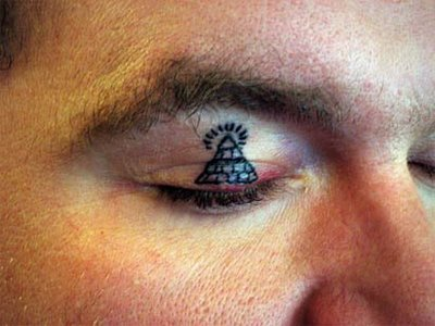 All sEEing EyE EyElid tattOO
