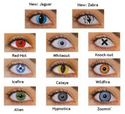 halloween eye contacts set