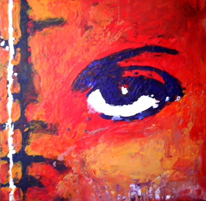 Encaustic eye