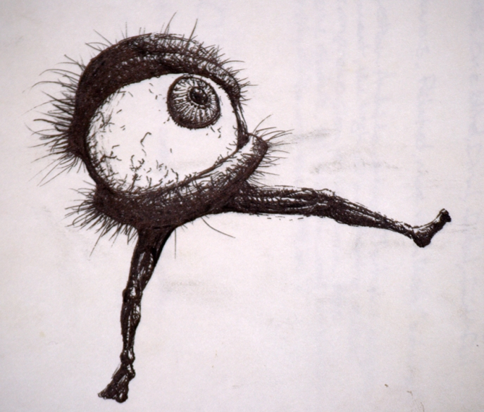 eyeball guy by FreeSoup