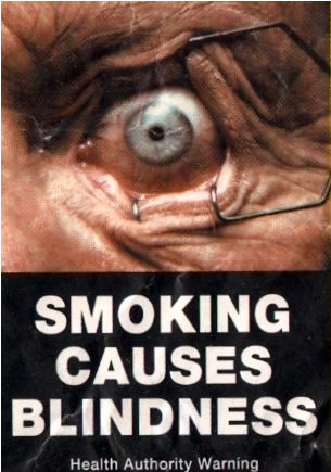 Smoking Causes Blindness Cigarettes Contain Nitrosamines