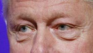 Special Envoy Bill Clinton's eyes