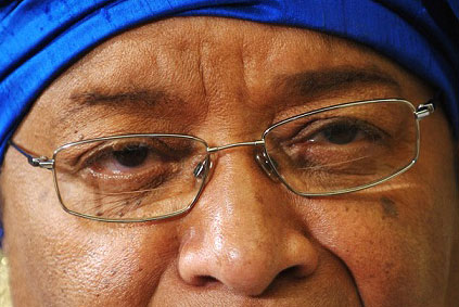 Ellen Johnson Sirleaf's eyes