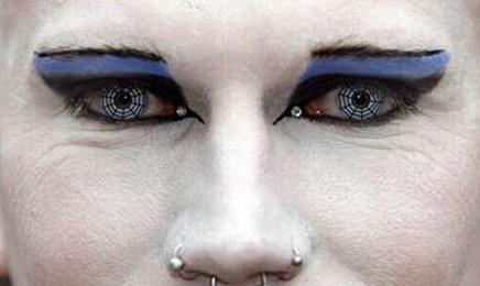 cyber goth eyes